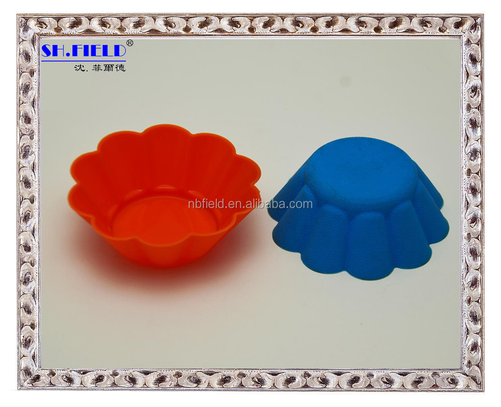 heart shape silicone muffin cup