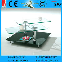 3-12mm Acid Etched Glass Dining Table