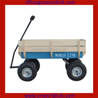 1801T Heavy Duty 4 Wheels Garden Wooden Trailer