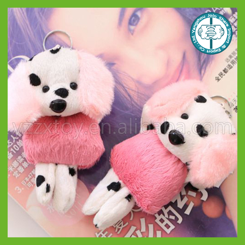 Hot sale best made stuffed soft plush dog keychain cheap kids toys