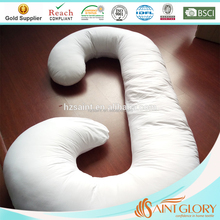 Best-selling J Shaped Pregnancy Pillow Maternity Pillow C Shaped or U shape Nursing Support Cushion with Washable Pillow Cover