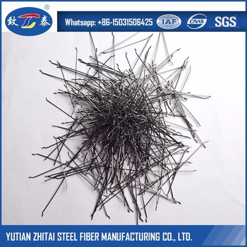 ISO 9001:2008 Construction Concrete Strengthening Round Crimped Steel Fibers