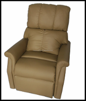 Modern Leather Surface Single Reclining Rest Room Recliner Chair Sofa