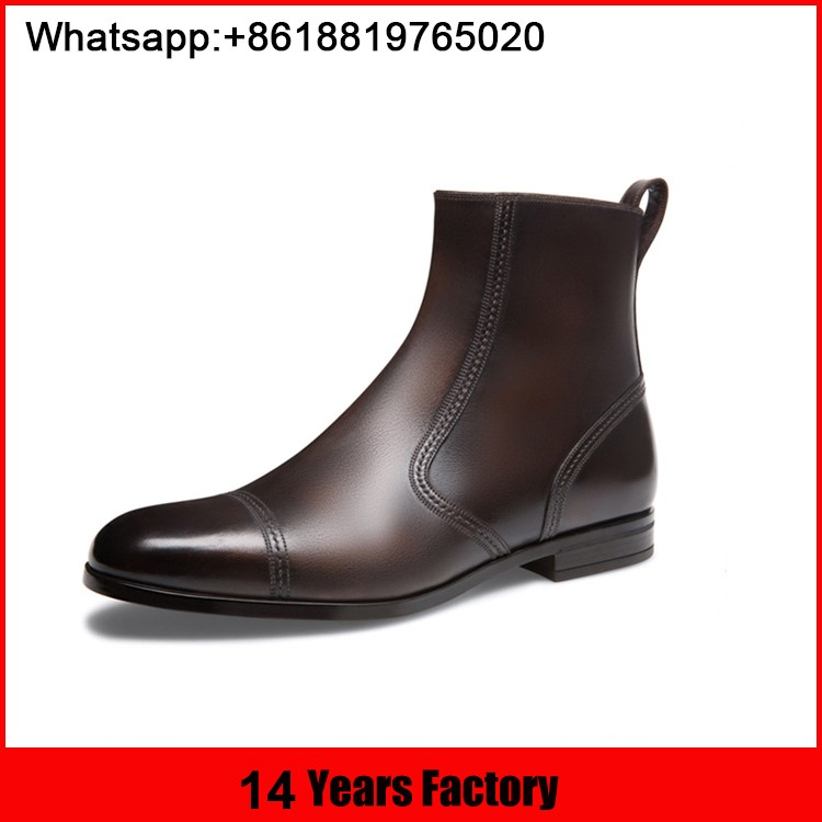 leather shoes,men boots,Intalian style boots made in China