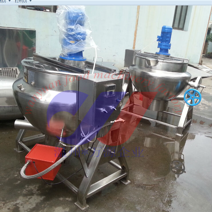Gas heating jacketed kettle jacketed cooking kettle jacketed cooking pan