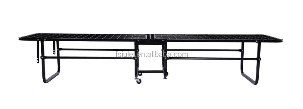 modern slatted single folding metal bed DJ-PQ10 foldaway bed