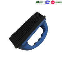 rubber material floor cleaning brush, hand style rubber brush car wash brush