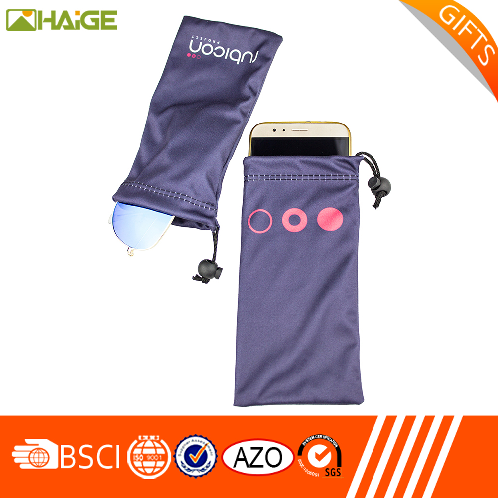 Best price of microfiber c2 pull rope mobile phone bagamera cleaning pouch made in China