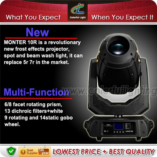 Accept sample order Dj stage 10r 280w beam light moving head robe <strong>pointe</strong>