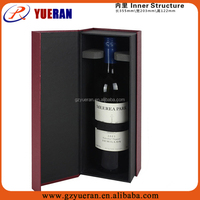 Custom Luxury Paper Wine gift Box, Leather Wine Box, Bag In Box For Wine