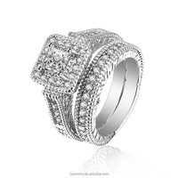 LYR0161 New CZ Stone 925 Sterling Silver Wedding Diamond Ring Wholesale