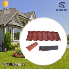 Low Price terracotta blue metal roof tile with CE certificate