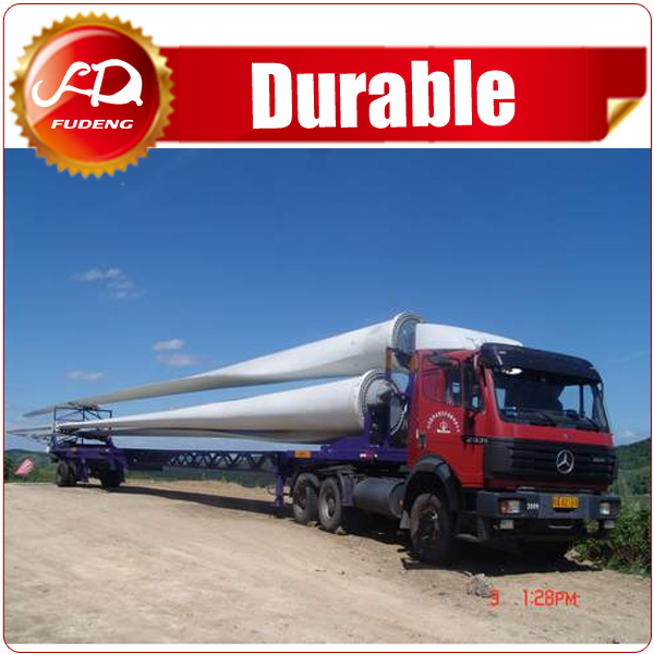 China hot sele Extendable Semi Trailer,Hydraulic Steering Wind Blade Low bed Trailer