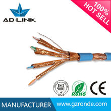 lan cable good quality low price 305m bare copper 0.56mm 0.64mm cat 7a lan cable
