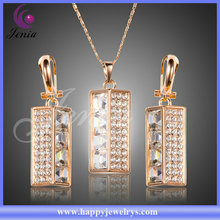 Real 18K gold plated fashion jewelry set unique design with cheap price set jewelry (XS085)