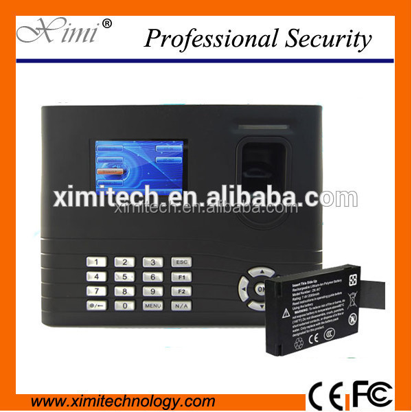 Standalone rfid card reader IN01 fingerprint reader WIFI GPRS TCP/IP built in battery fingerprint time attendance