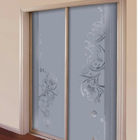 Door/Cabinet/Wardrobe/Table/Partition/Wall Acid Etched Glass