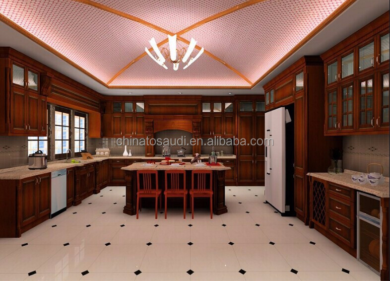 High quality carved wood kitchen cabinet doors furniture for Carved kitchen cabinets