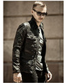 Men Vintage Lamb Skin Leather Jacket Tan Leather Jacket