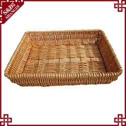 S&D Green environmental protected rattan bread basket snacks dry fruit basket