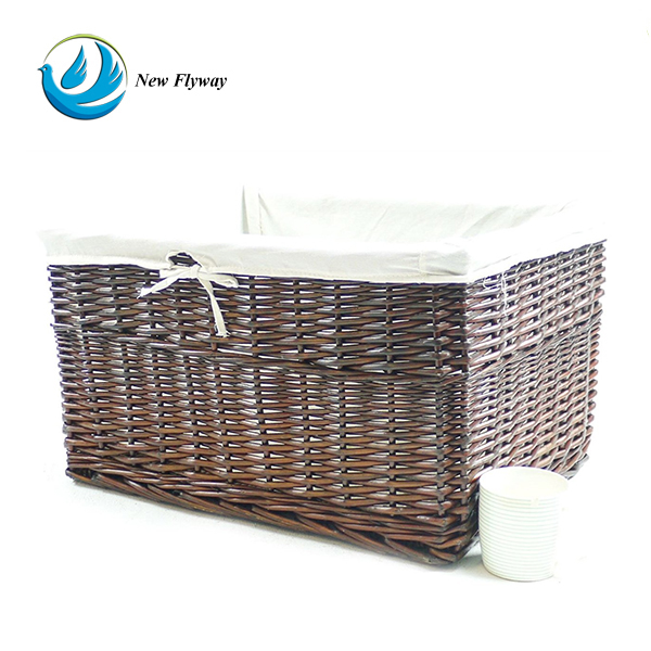 eco-friendly painted kichen food storage willow basket
