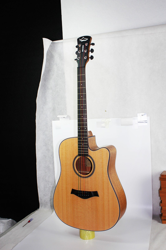2015 Hot sales China made Cutway Acoustic Guitar musical instrument