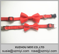 Wholesale Colorful Red Polka dot Collars with Bow Tie Dog Collars