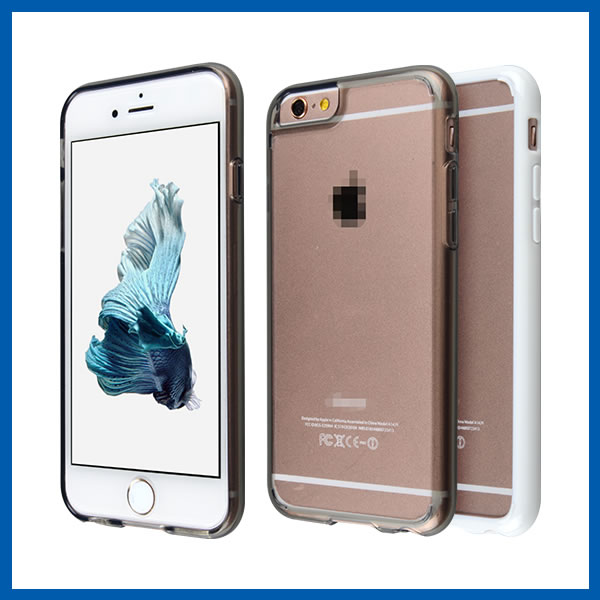 C&T Transparent Clear PC Hard Back Plate and Gel Bumper Soft TPU Mobile Case For Iphone 6S
