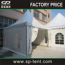5mx5m Aluminum frame PVC metal roof pagoda for sale