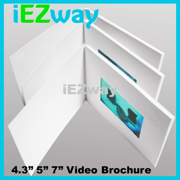 2015 iEZway 4.3 Inch customized promotional LCD video brochure card
