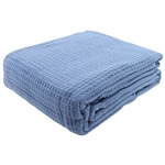 Open End Cotton Thermal Blankets, Soft as Combed Cotton