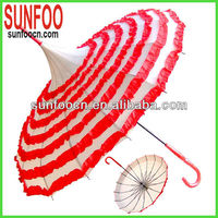 Ruffled promotional pagoda umbrella