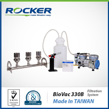 Rocker membrane pumps system for microbiology laboratory equipment