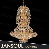 luxury modern gold crystal chandelier hanging pendant light led lighting fixture for interior decoration