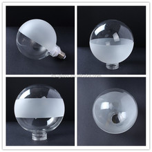 Alibaba China supplier frosted round globe bulb light tempered glass lamp cover