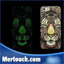 for iphone 6 PC cover case Fluorescent Noctilucent tiger wolf owl bear pattern PC cover case for iphone 6