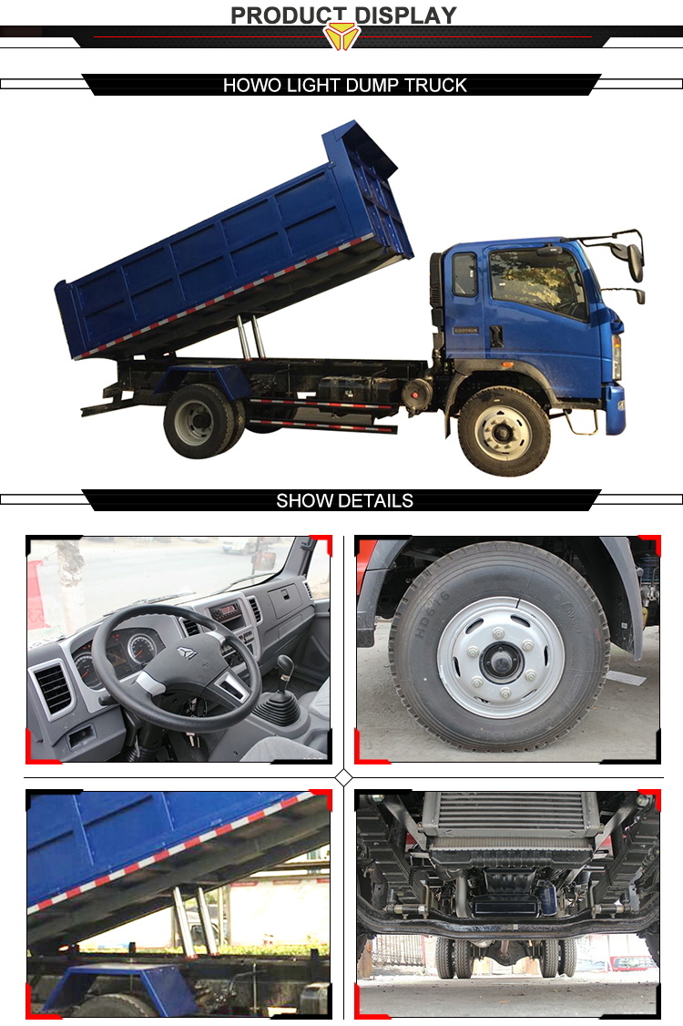 High quality lower price brand used sinotruk howo dump truck 4x2 for sale