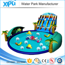 PVC material inflatable water park fiberglass water slide for sale