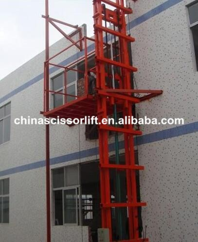 Stationary Hydraulic Guide Rail Lift Platform with CE for Sale