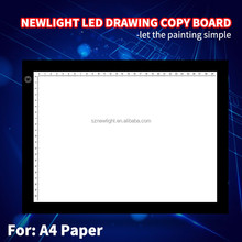 High brightness LED light tracing drawing table copy board A4 size
