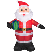Produced order inflatable lighting santa decoration for christmas Eve