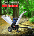 ATV Quad mulcher wood shredder with 15hp petrol engine