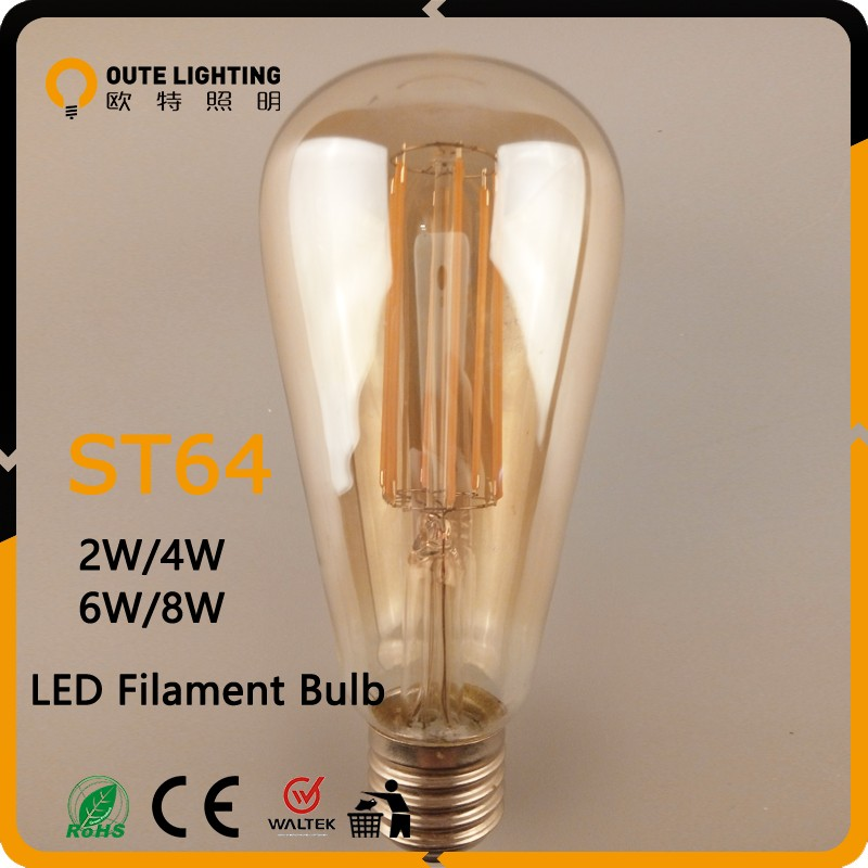 Never indelible memory 360 degree led filament lamp E27 St 64
