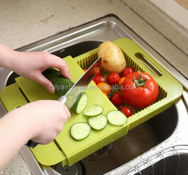 New Kitchen sink cutting boards wash cut / drain basket chopping block