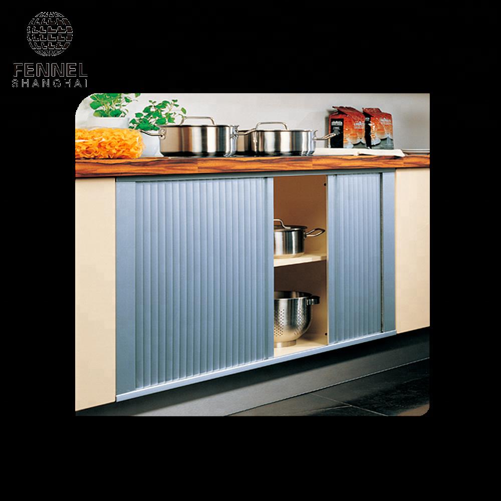 Elegant Kitchen Cabinet Door Design Horizontally Central Closing ...
