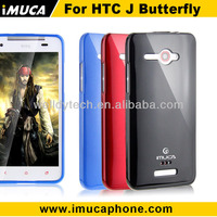 For HTC J Butterfly TPU case -IMUCA Cool Color Series