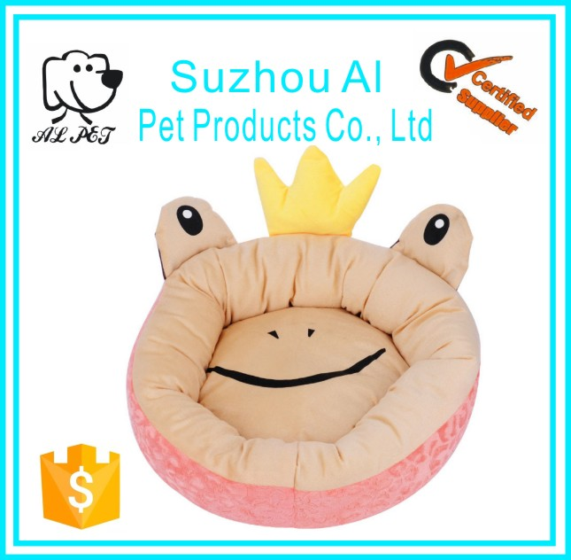 Creative Cute Frog Shape Cat Kennel Washable Luxury Small Dog Bed