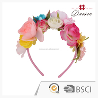 Charming indian big rose flower hairband, hair accessories for women