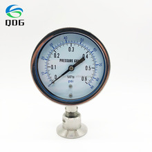 316L DN50 High quality all stainless steel sanitary diaphragm sealhigh low pressure gauge