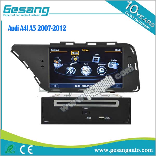 Gesang touch screen car dvd player for Audi A4L A5 2007-2012 with 3g wifi